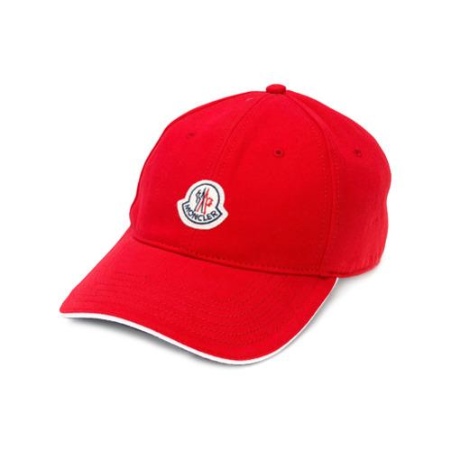 Moncler gorra con parche del logo - Rojo