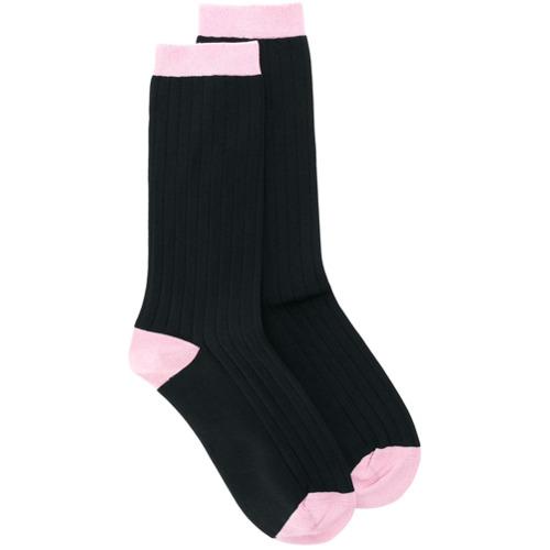 Imagen principal de producto de Ganni calcetines con colour block - Negro - Ganni
