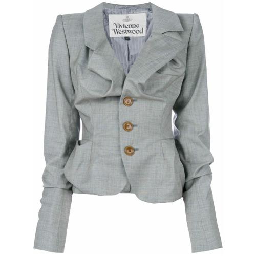 Imagen principal de producto de Vivienne Westwood blazer fruncido y entallado - Gris - Vivienne Westwood