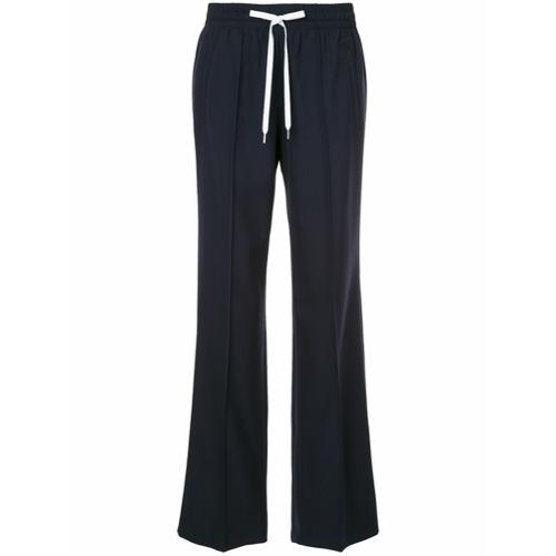 Imagen principal de producto de Miu Miu pantalones de pinzas con cordones en la cintura - Azul - Miu Miu