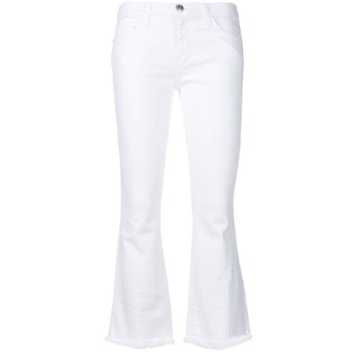 Imagen principal de producto de Current/Elliott pantalones capri con corte slim - Blanco - Current/Elliott