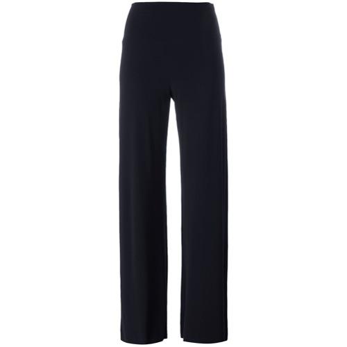 Imagen principal de producto de Norma Kamali pantalones palazzo de talle alto - Azul - Norma Kamali
