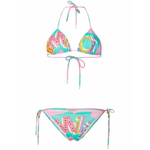 Emilio Pucci bikini triangular - Multicolor