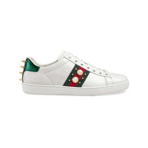 Imagen principal de producto de Gucci zapatillas Ace con tachuelas - Blanco - Gucci