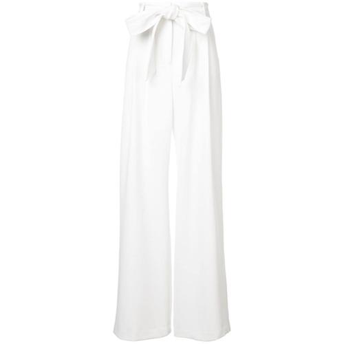 Imagen principal de producto de Milly pantalones acampanados con cinturón - Blanco - Milly