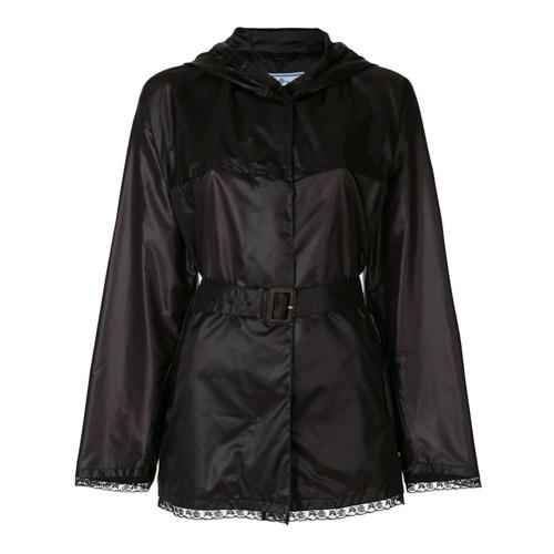 Imagen principal de producto de Prada chaqueta cruzada con cinturón - Negro - Prada