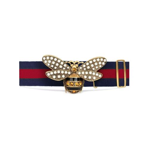 Imagen principal de producto de Gucci cinturón Web con abeja - Rojo - Gucci