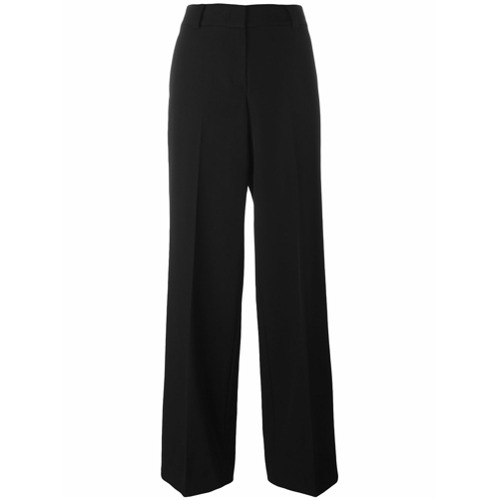 Imagen principal de producto de DKNY pantalones de pinzas de corte ancho - Negro - DKNY