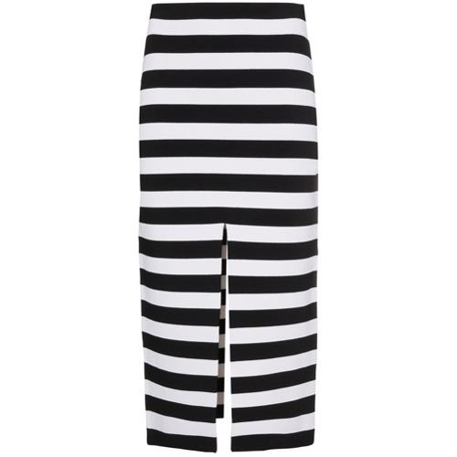 Imagen principal de producto de Proenza Schouler Stripe Knit Pencil Skirt - Negro - Proenza Schouler