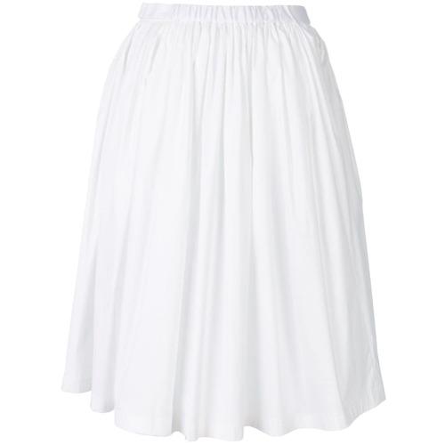 Imagen principal de producto de Prada falda acampanada con pliegues - Blanco - Prada