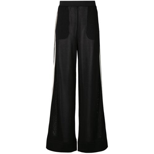 Imagen principal de producto de Roberto Collina pantalones con raya al lado - Negro - Roberto Collina