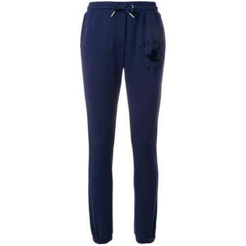 Imagen principal de producto de Zoe Karssen pantalones joggers de canalé - Azul - Zoe Karssen