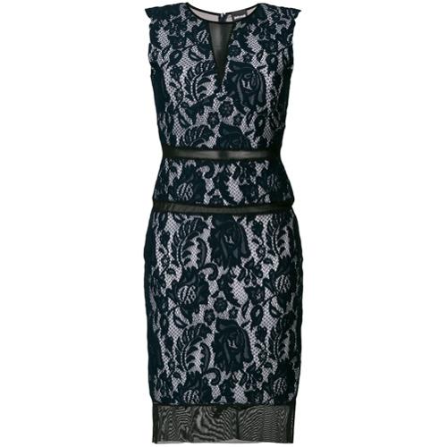 Imagen principal de producto de Just Cavalli vestido ajustado de encaje Macramé - Azul - Just Cavalli