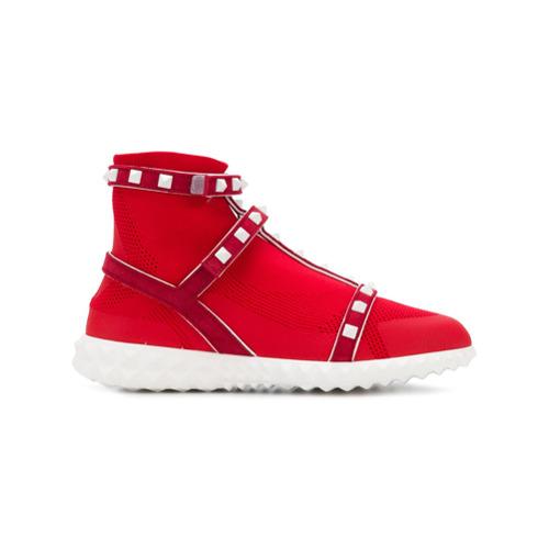 Imagen principal de producto de Valentino zapatillas con apliques Valentino Garavani - Rojo - Valentino