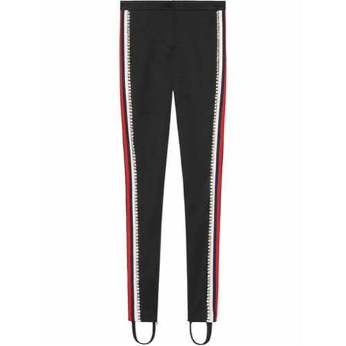 Imagen principal de producto de Gucci leggins estilo fuseau con cristales - Negro - Gucci