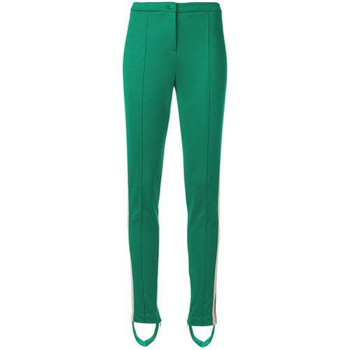 Imagen principal de producto de Gucci pantalones estilo fuseau con logo - Verde - Gucci