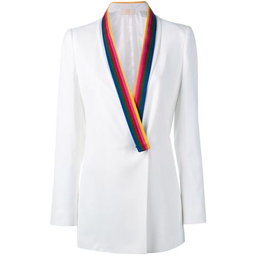 Imagen principal de producto de Sara Battaglia blazer con solapas en contraste - Blanco - Sara Battaglia