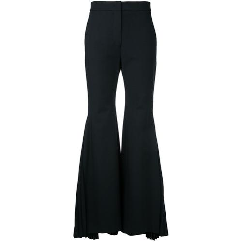 Imagen principal de producto de Sara Battaglia pantalones de campana con pliegues - Negro - Sara Battaglia
