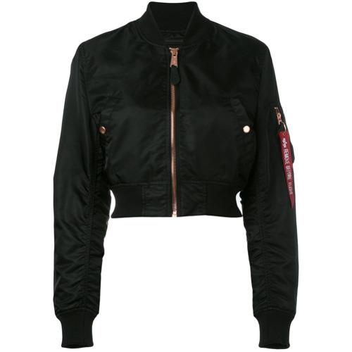 Imagen principal de producto de Alpha Industries chaqueta bomber corta - Negro - Alpha Industries