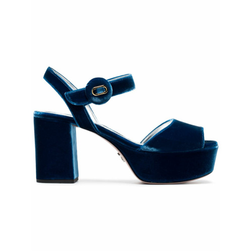 Imagen principal de producto de Prada sandalias con plataforma 85 - Azul - Prada
