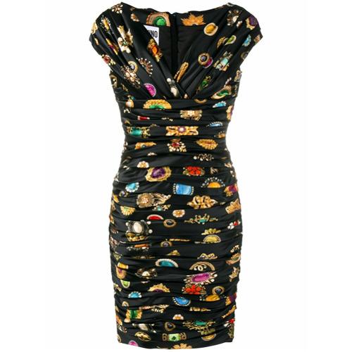 Imagen principal de producto de Moschino vestido fruncido con hombros descubiertos - Negro - Moschino