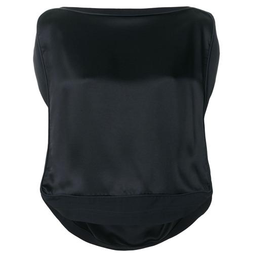 Imagen principal de producto de Vivienne Westwood top de crepé de satén - Negro - Vivienne Westwood