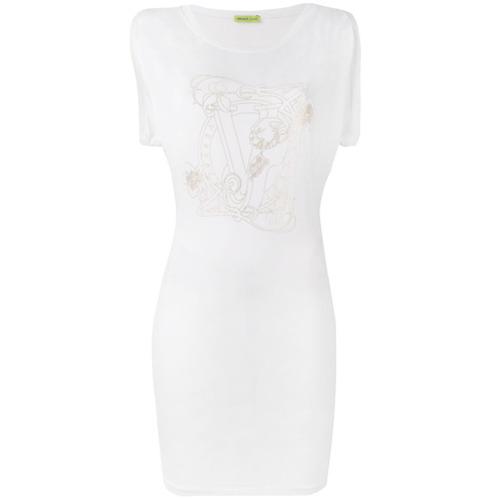 Imagen principal de producto de Versace Jeans vestido con estampado del logo - Blanco - Versace