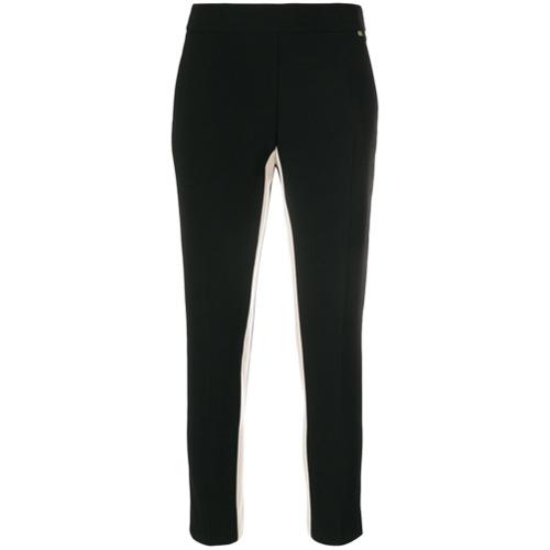 Imagen principal de producto de Elisabetta Franchi pantalones capri con franja lateral - Negro - Elisabetta Franchi