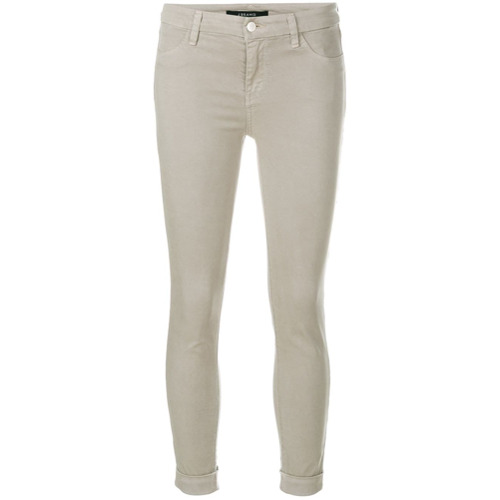 Imagen principal de producto de J Brand pantalones de talle medio Anja - Gris - J Brand