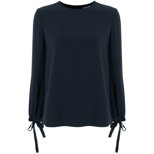 Imagen principal de producto de Emporio Armani blusa con apliques de lazos - Azul - Emporio Armani