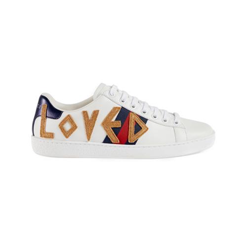 Imagen principal de producto de Gucci zapatillas Ace con bordados - Blanco - Gucci
