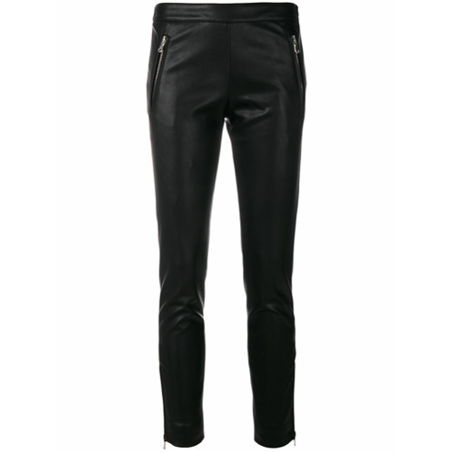 Imagen principal de producto de Moschino pantalones con detalle de cremallera - Negro - Moschino
