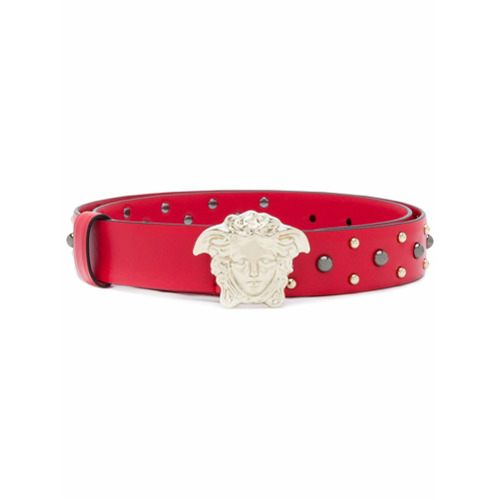 Imagen principal de producto de Versace cinturón Medusa con apliques - Rojo - Versace
