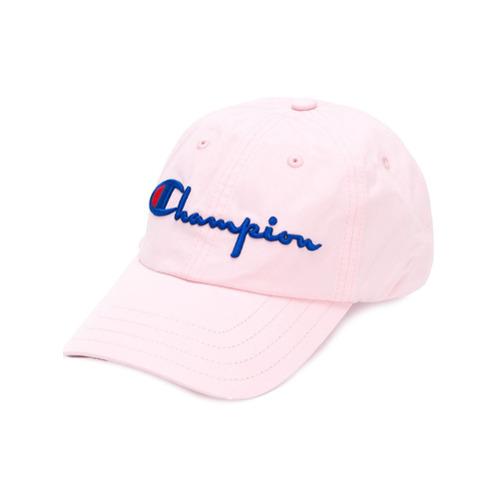 Champion gorra con bordado del logo - Rosa Y Morado