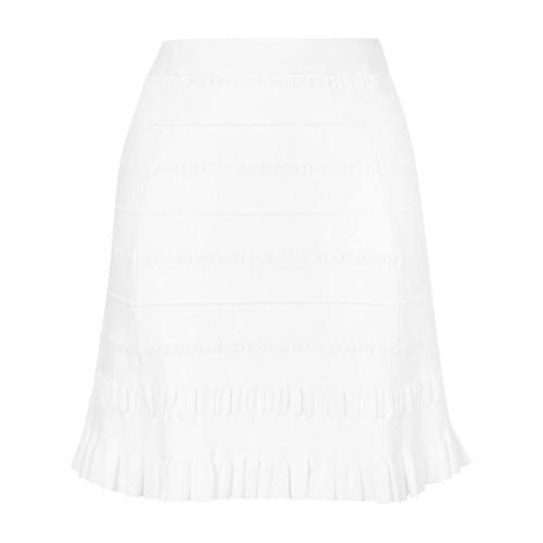 Imagen principal de producto de Kenzo falda texturizada de punto - Blanco - Kenzo