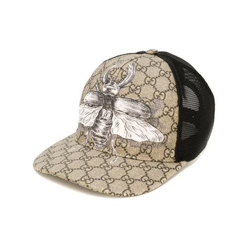 Gucci gorra de béisbol GG Supreme con motivo de insecto - Nude Y Neutro