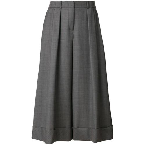 Imagen principal de producto de Jil Sander Navy pantalones capri anchos - Gris - Jil Sander Navy