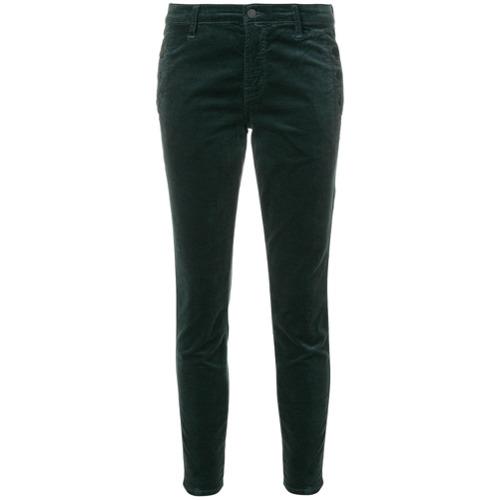 Imagen principal de producto de J Brand pantalones pitillo capri Zion - Verde - J Brand