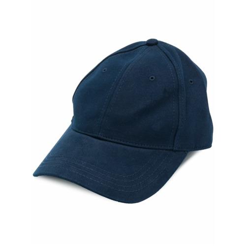 Moncler gorra con ribete de rayas - Azul