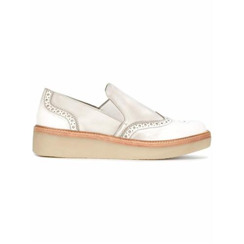 Imagen principal de producto de DKNY zapatillas slip-on estilo brogue Kara - Gris - DKNY