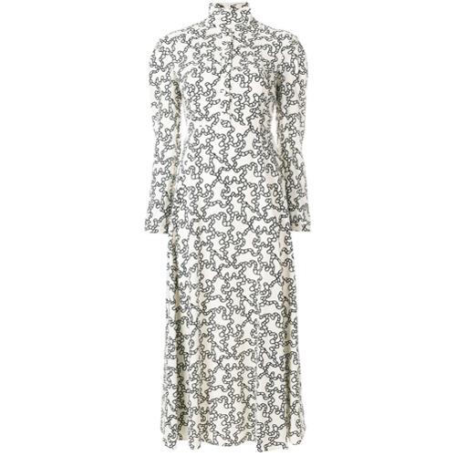 Imagen principal de producto de Valentino vestido midi con estampado gráfico - Blanco - Valentino