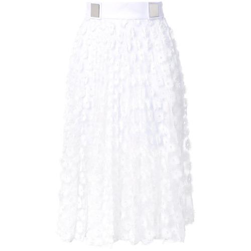 Imagen principal de producto de Carven falda plisada con ojales - Blanco - Carven