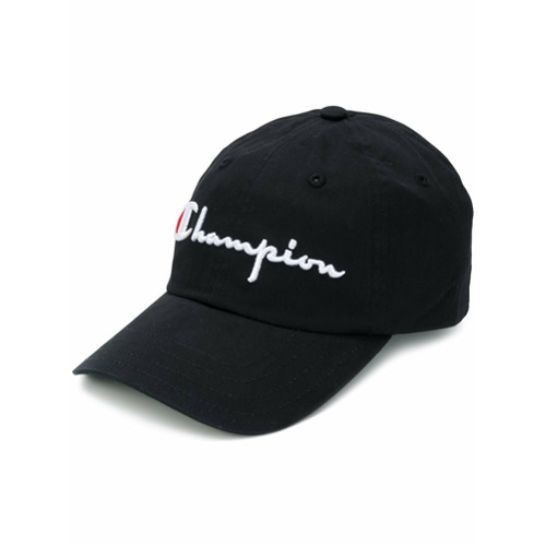 Champion large logo baseball cap - Negro