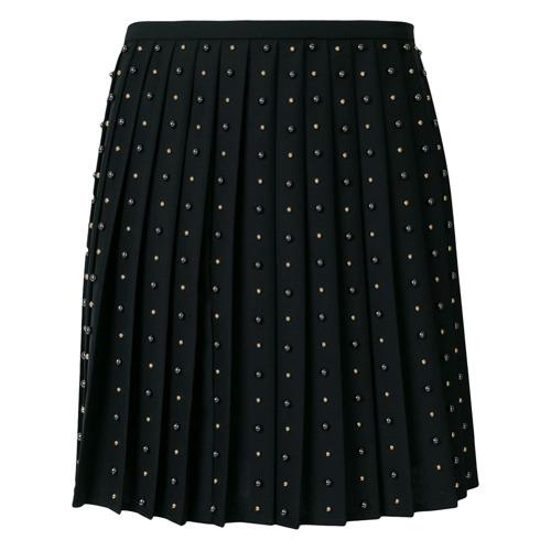 Imagen principal de producto de Versace falda plisada con apliques - Negro - Versace