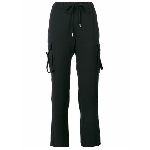 Imagen principal de producto de Michael Michael Kors pantalones capri con cordones - Negro - MICHAEL Michael Kors