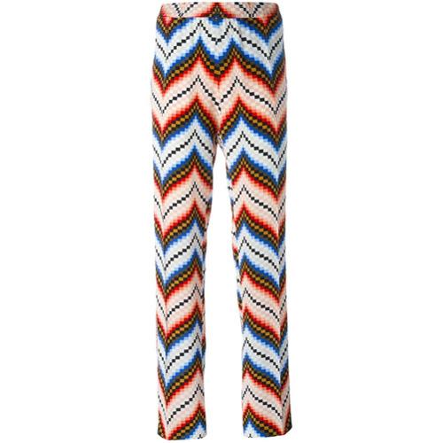 Imagen principal de producto de Kenzo pantalones chevron de pierna recta - Rojo - Kenzo
