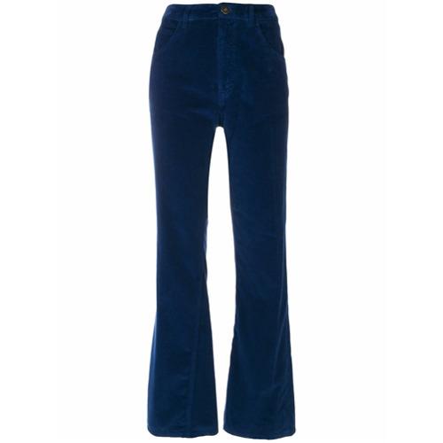 Imagen principal de producto de Prada pantalones tobilleros de terciopelo - Azul - Prada
