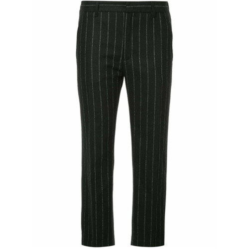 Imagen principal de producto de Hope pantalones capri con diseño a rayas diplomáticas - Negro - Hope