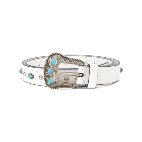 Imagen principal de producto de Prada cinturón con detalles - Blanco - Prada