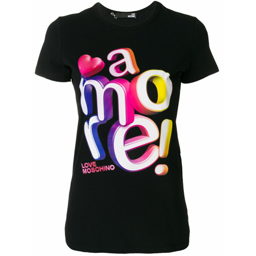 Imagen principal de producto de Love Moschino camiseta clásica Amore! - Negro - Moschino